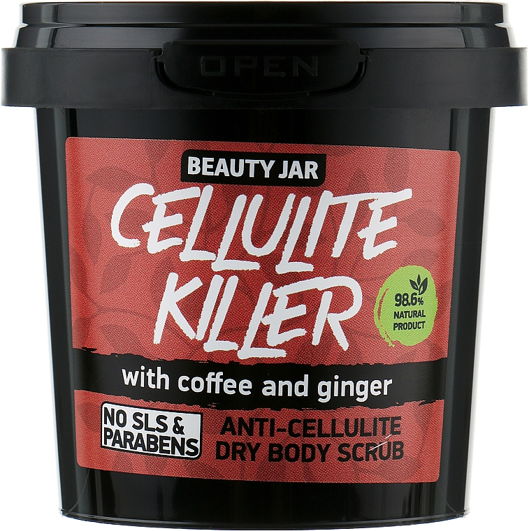"Anti-Cellulite Körperpeeling ""Cellulite Killer"" - Beauty Jar Anti-Cellulite Dry Body Scrub"