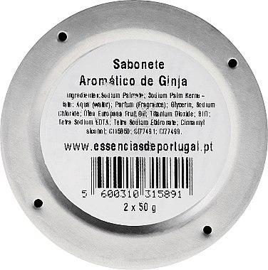 Naturseifen Ginja in Schmuck-Box - Essencias De Portugal Aluminum Jewel-Keeper Ginja Soap Tradition Collection — Bild N3