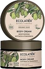 Düfte, Parfümerie und Kosmetik Feuchtigkeitsspendende und aufweichende Körpercreme mit Bio Olivenöl, Kakaobutter und Vitamin E - Ecolatier Organic Oliva Body Cream