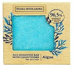 Düfte, Parfümerie und Kosmetik 2in1 Festes Shampoo und Haarspülung mit Algen für trockenes Haar - Stara Mydlarnia Algae 2in1 Shampoo Bar