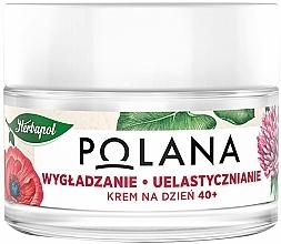 Düfte, Parfümerie und Kosmetik Glättende Anti-Aging Tagescreme mit Schlafmohn, Stevia und Holunder 40+ - Polana