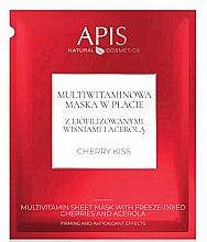 Düfte, Parfümerie und Kosmetik Gesichtsmaske mit Vitaminen - APIS Professional Cherry Kiss Multivitamin Sheet Mask