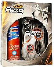 Düfte, Parfümerie und Kosmetik Rasierset - Bic Flex 5 Comfort (Rasierer 3 St. + Rasierschaum 200ml)