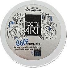 Düfte, Parfümerie und Kosmetik Modellierende Haarpaste für Männer Starker Halt - L'Oreal Professionnel Tecni.art Stiff Pommade 5 Force