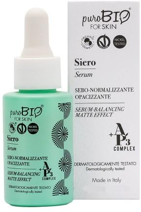 Sebonormalisierendes Gesichtsserum mit Matteffekt -PuroBio Cosmetics Serum - Balancing Matte Effect — Bild N1