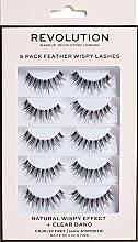 Düfte, Parfümerie und Kosmetik Künstliche Wimpern - Makeup Revolution 5 Pack Feather Wispy Lashes