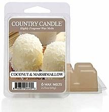 Düfte, Parfümerie und Kosmetik Duftwachs Coconut & Marshmallow - Country Candle Coconut Marshmallow Wax Melts