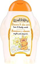 Düfte, Parfümerie und Kosmetik 2in1 Shampoo und Duschgel für Kinder mit Bananenduft und Aloe Vera-Extrakt - Bluxcosmetics Naturaphy Hair & Body Wash