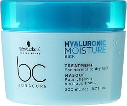 Düfte, Parfümerie und Kosmetik Intensiv feuchtigkeitsspendende Haarmaske für normales und trockenes Haar - Schwarzkopf Professional Bonacure Hyaluronic Moisture Kick Treatment