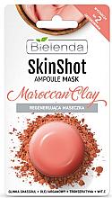 Düfte, Parfümerie und Kosmetik Regenerierende Gesichtsmaske mit marokkanischer Ghassoul-Lavaerde - Bielenda Skin Shot Marrocan Clay