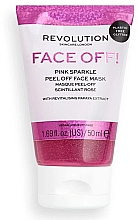 Düfte, Parfümerie und Kosmetik Peel-off Maske mit Papaya-Extrakt - Revolution Skincare Face Off! Pink Glitter Face Off Mask