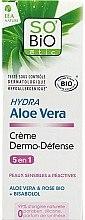 Düfte, Parfümerie und Kosmetik Schützende und feuchtigkeitsspendende Gesichtscreme mit Aloe Vera, Rose und Bisabolol - So'Bio Etic Hydra Aloe Vera Creme