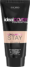 Düfte, Parfümerie und Kosmetik Langanhaltende Foundation mit Vitamin E - Ingrid Cosmetics Long-Lasting Stay Ideal Cover