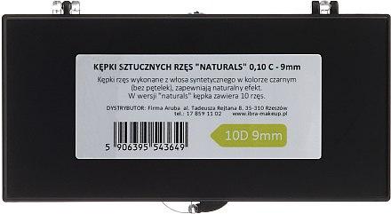 Wimpernbüschel 0.10-C/9 mm - Ibra 10 Flares Eyelash Knot Free Naturals — Bild N2