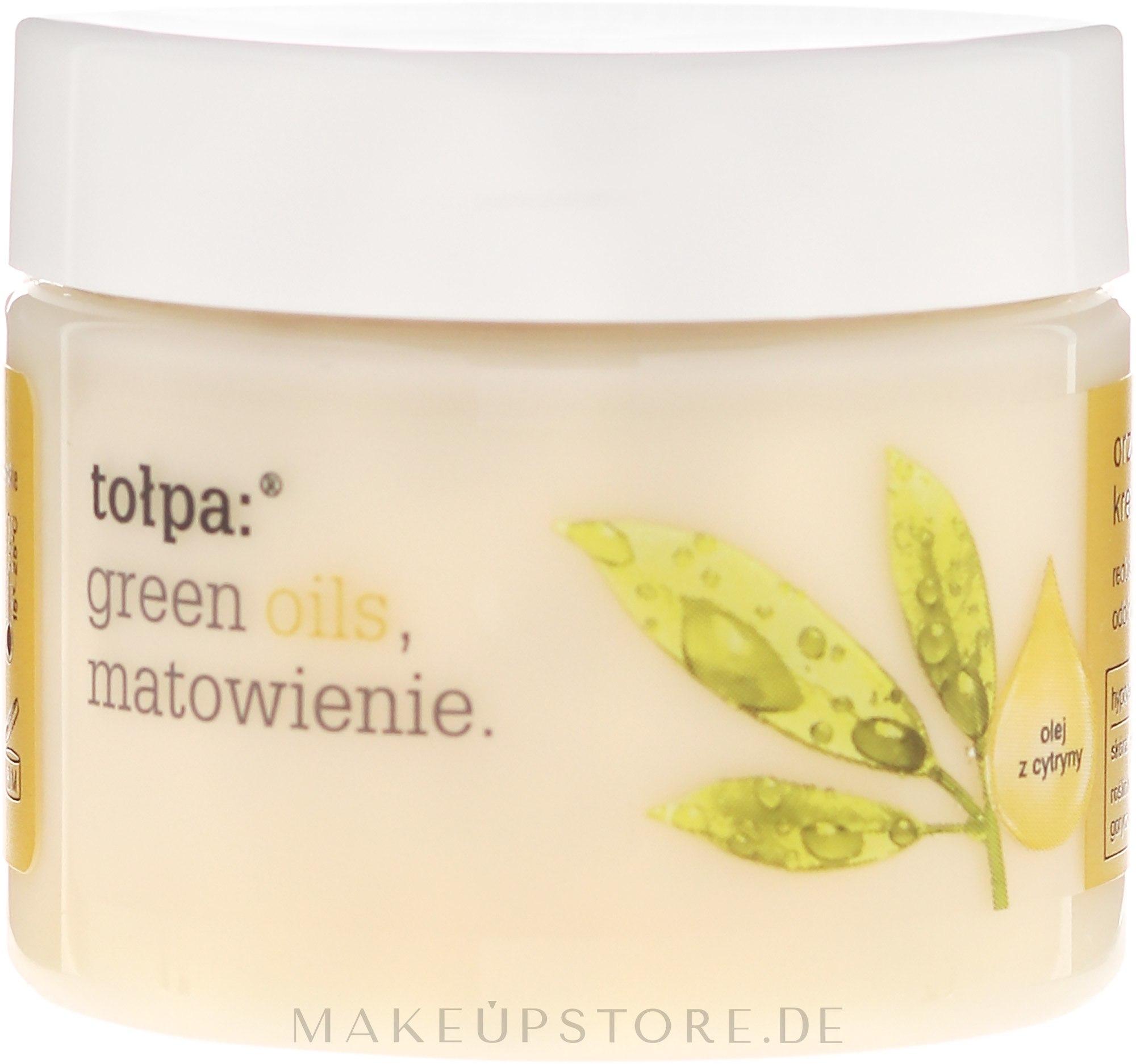 Erfrischendes und mattierendes Gesichtscreme-Gel - Tolpa Green Oils — Bild 50 ml
