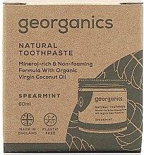 Natürliche und mineralstoffreiche Zahnpasta mit Minzgeschmack - Georganics Spearmint Natural Toothpaste — Bild N3