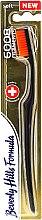 Düfte, Parfümerie und Kosmetik Zahnbürste weich 6008 orange - Beverly Hills Formula 6008 Filament Multi-Colour Toothbrush