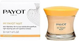 Düfte, Parfümerie und Kosmetik Regenerierende Nachtcreme mit Goji- und Acai-Beeren, Bifidobakterien und Haselnuss-Extrakt - Payot My Payot Nuit