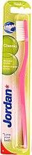 Düfte, Parfümerie und Kosmetik Zahnbürste hart Classic rosa - Jordan Classic Hard Toothbrush
