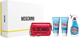 Düfte, Parfümerie und Kosmetik Moschino Fresh Couture - Duftset (Eau de Toilette 100ml + Körperlotion 100ml + Duschgel 100ml + Schlüsselanhänger)