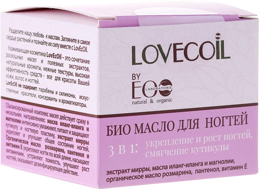 3in1 Bio Nagelöl - ECO Laboratorie Lovecoil Nail Care Bio-Oil 3 in 1 — Bild N1