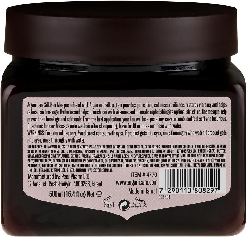 Haarmaske mit Seidenproteinen - Arganicare Silk Hair Masque — Bild N4