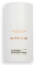 Düfte, Parfümerie und Kosmetik Feuchtigkeitsspendende Nachtcreme für das Gesicht mit Glykolsäure - Revolution Skincare Glycolic Overnight Moisture Cream