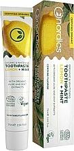 Düfte, Parfümerie und Kosmetik Bio aufhellende Zahnpasta mit Zitrone und Minze - Nordics Organic & Whitening Toothpaste Lemon + Mint