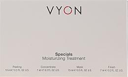 Düfte, Parfümerie und Kosmetik Gesichtspflegeset - Vyon Specials Moisturizing Treatment (Gesichtspeeling 10ml + Gesichtskonzentrat 7ml + Gesichtsmaske 15ml + Gesichtscreme 7ml)