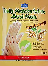 Düfte, Parfümerie und Kosmetik Feuchtigkeitsspendende Handschuhmaske mit Haferflocken und Sheabutter - Purederm Daily Moisturizing Hand Mask Oatmel