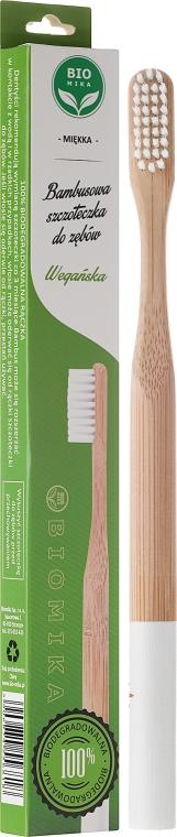 Bambuszahnbürste weich weiß - Biomika Natural Bamboo Toothbrush — Bild N1