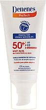 Düfte, Parfümerie und Kosmetik Wasserdichte Sonnenschutzcreme für empfindliche Bereiche SPF 50+ - Denenes Sun Protective Cream SPF50+