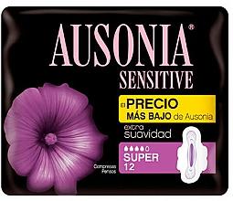 Düfte, Parfümerie und Kosmetik Damenbinden 12 St. - Ausonia Sensitive Super With Wings