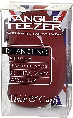 Entwirrbürste - Tangle Teezer Original Thick & Curly Dark Red — Bild N4