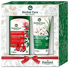 Düfte, Parfümerie und Kosmetik Körperpflegeset - Farmona Herbal Care(Bademilch 500ml + Körperbalsam 200ml)