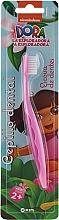 Düfte, Parfümerie und Kosmetik Kinderzahnbürste 2+ Jahre Dora rosa - Kin Kid's Dora The Explorer Toothbrush