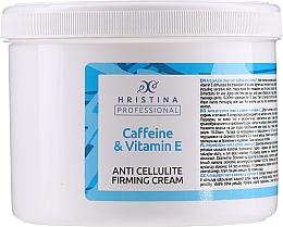 Düfte, Parfümerie und Kosmetik Straffende Anti-Cellulite Körpercreme mit Koffein und Vitamin E - Hristina Professional Anti Cellulite Firming Cream Caffeine & Vitamin E