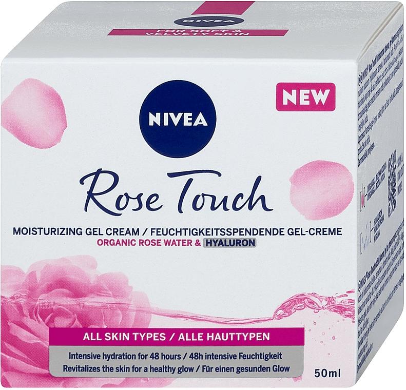 Feuchtigkeitsspendende Gesichtsgel-Creme mit Bio Rosenwasser und Hyaluronsäure - Nivea Rose Touch