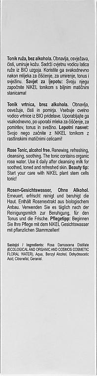 Gesichtswasser mit Bio Rose für normale und trockene Haut - Nikel Rose Tonic — Bild N3