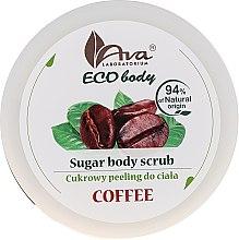 Düfte, Parfümerie und Kosmetik Zuckerpeeling für den Körper mit Kaffee - Ava Laboratorium Eco Body Natural Sugar Scrub Coffee
