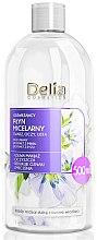 Düfte, Parfümerie und Kosmetik Erfrischendes Mizellenwasser mit Leinöl, Ingwer- und Rosenextrakt - Delia Micellar Water