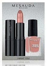 Düfte, Parfümerie und Kosmetik Makeup Set - Mesauda Milano I Want You Kit (Lippenstift 3.5g + Nagellack 10ml)