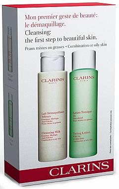 Set - Clarins Combination/Oily Skin Cleansing Kit (milk/200ml + lot/200ml) — Bild N1