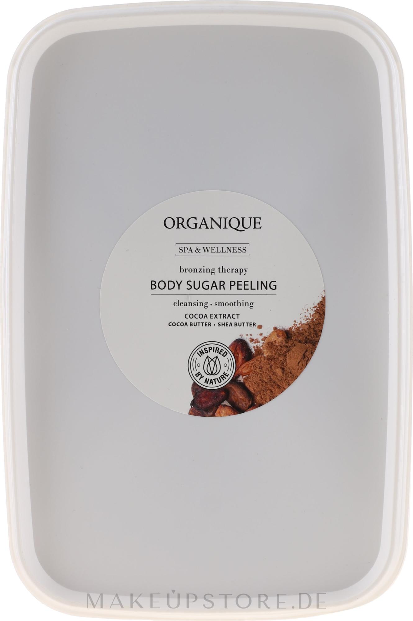 Entspannendes Schokolade-Zuckerpeeling für den Körper - Organique Professional Spa Therapie Chocolate Sugar Peeling — Bild 1000 g