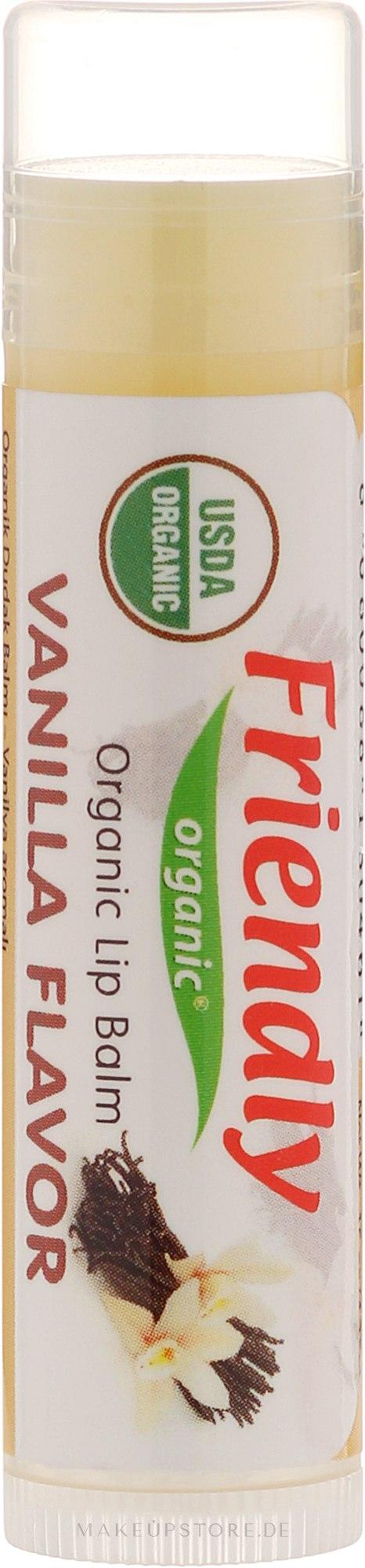 "Feuchtigkeitsspendender Lippenbalsam ""Vanille"" - Friendly Organic Lip Balm Vannilla — Bild 4.25 g"