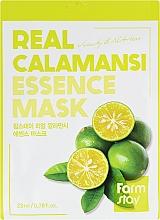 Tuchmaske für das Gesicht mit Calamansi-Extrakt - Farmstay Real Calamansi Essence Mask — Bild N1