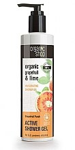 Düfte, Parfümerie und Kosmetik Aktives Duschgel mit Grapefruit- und Limettenextrakt für alle Hauttypen - Organic Shop Organic Grapefruit and Lime Active Shower Gel