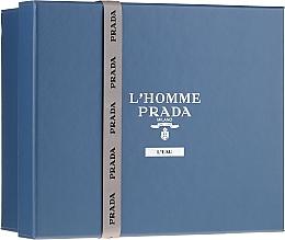 Düfte, Parfümerie und Kosmetik Prada L'Homme Prada L'Eau - Duftset (Eau de Toilette 100ml + Eau de Toilette 10ml + Duschgel 100ml)