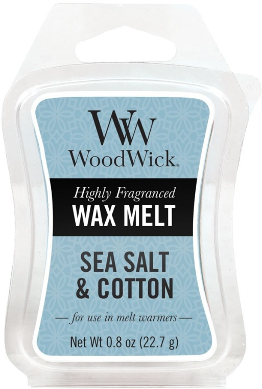 Tart-Duftwachs Sea Salt & Cotton - WoodWick Wax Melt Sea Salt & Cotton Smart Wax System — Bild N1