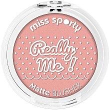 Düfte, Parfümerie und Kosmetik Mattes Gesichtsrouge - Miss Sporty Really Me Matte Blusher